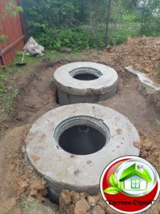 Септик из бетонных колец «под ключ» в Циплино